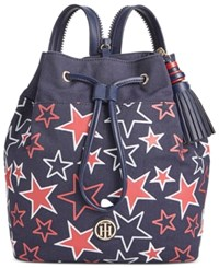 Tommy Hilfiger Summer Of Love Small Sling Backpack Navy Red