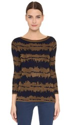 Maiyet Long Sleeve Boat Neck Sweater Navy Copper