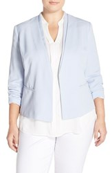 Plus Size Women's Halogen Open Front V Neck Jacket
