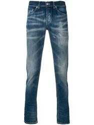 Dondup Bootcut Mid Rise Jeans Blue