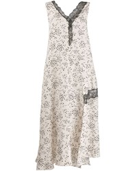 Alysi Small Floral Print Dress Neutrals