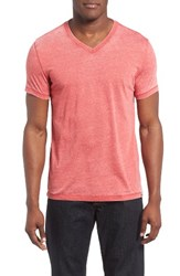 Lucky Brand Men's Burnout T Shirt Pompeian Red