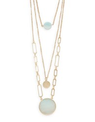 Robert Rose Layered Pendant Necklace Mint