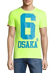 Superdry Osaka Short Sleeve Cotton Blend Tee Flourescent Yellow