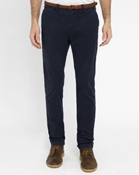 Scotch And Soda Navy Stuart Slim Fit Chinos With Belt Blue
