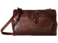 Frye Melissa Crossbody Clutch Dark Brown Cross Body Handbags