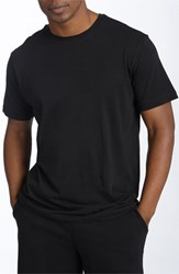 Men's Daniel Buchler Peruvian Pima Cotton T Shirt Black