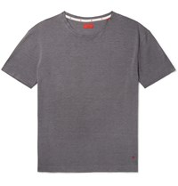 Isaia Silk And Cotton Blend T Shirt Gray