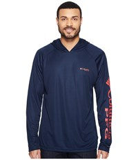 Columbia Terminal Tackle Hoodie Collegiate Navy Sunset Red Logo Men's Sweatshirt