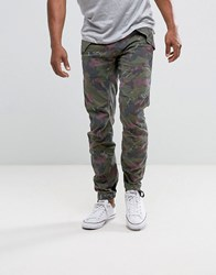 G Star Rovic 3D Tapered Pant Camo Print Green