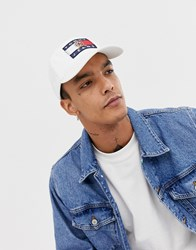 d01aab56b4 Tommy Jeans 6.0 Limited Capsule Baseball Cap With Crest Flag In White Cloud  Dancer