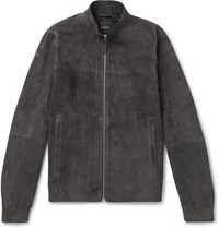 Theory Radic Tremont Suede Jacket Gray