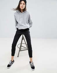 Asos Skinny Chino Trousers With Roll Up Black