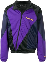 Martine Rose Off Centre Zipped Jacket Pink And Purple
