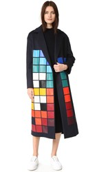 Anya Hindmarch Oversized Space Invaders Coat Ink