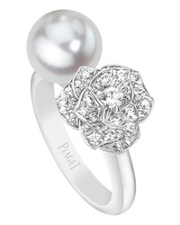 Piaget Open Pearl And Diamond Rose Ring