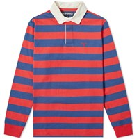Barbour Dylan Stripe Rugby Shirt Red