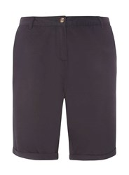 Dorothy Perkins Curve Plus Size Navy Chino Knee Shorts Blue