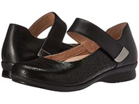 Dansko Audrey Black Crackle Women's Flat Shoes