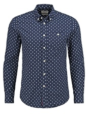 Knowledge Cotton Apparel Slim Fit Shirt Dunkelblau Dark Blue