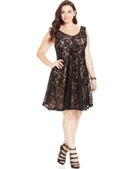 Love Squared Plus Size V Neck Lace Dress
