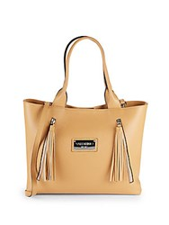 Valentino By Mario Valentino Alizee Snap Top Leather Tote Almond