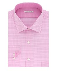 Van Heusen Plaid Dress Shirt Pink Multi