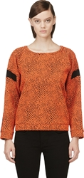 Avelon Orange Animal Textured Sweater