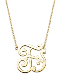 Giani Bernini 24K Gold Over Sterling Silver Necklace 'F' Initial Pendant
