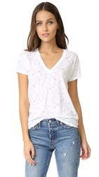Zadig And Voltaire Wass Stars T Shirt Blanc