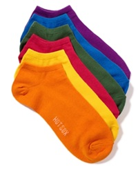Hot Sox Women's Solid 6 Pack Socks Bright Assorted