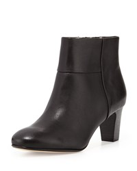 Taryn Rose Disa Leather Ankle Bootie Black