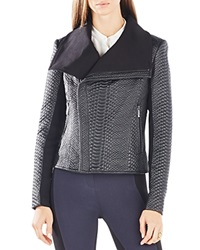 Bcbgmaxazria Snake Quilted Faux Leather Jacket