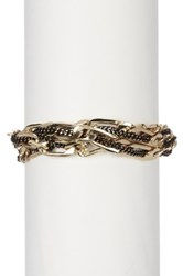 14Th And Union 3 Layer Woven Link Bracelet Metallic