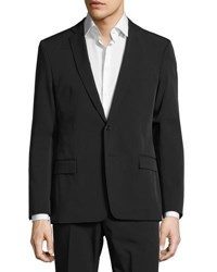 Versace Woven Solid Two Button Suit Black