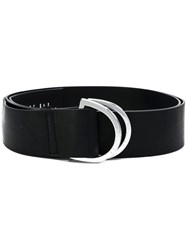 Unravel Project Double Buckle Belt Black