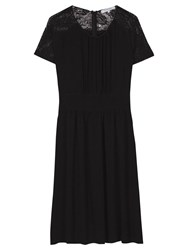 Gerard Darel Lace Robe Dress Black