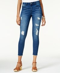 Tinseltown Juniors' Ripped Cropped Skinny Jeans Riley Medium