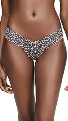 Hanky Panky Classic Leopard Low Rise Thong Brown Black