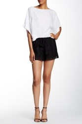 Lily White Lace Short Black