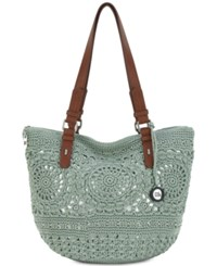 The Sak Silverwood Crochet Tote Created For Macy's Seafm Medl