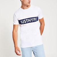 White 'Just Hype' Short Sleeve T Shirt