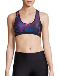We Are Handsome Firm Fit T Back Sports Bra The Defender Print