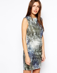 By Zoe Printed Dress In Marine Snake Print Marinesnake