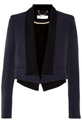 Chloe Layered Crepe Blazer Midnight Blue