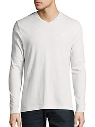 Vince Camuto Long Sleeve V Neck Tee Snowwhite