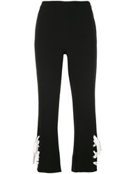 Cinq A Sept Cropped Trousers Black