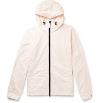 Aspesi Garment Dyed Shell Hooded Jacket Pink