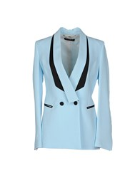 Mangano Suits And Jackets Blazers Women Sky Blue