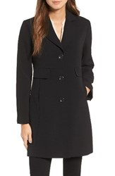 Kenneth Cole Women's New York Single Breasted Trench Coat Black